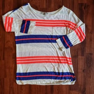 3/$30 Gap boat neck slub tee 3/4 sleeve pocket